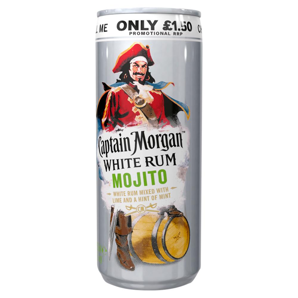 Captain Morgan White Rum Mojito 250ml Ready To Drink Premix Can Pmp 1 50